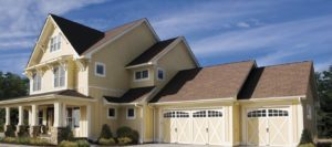 Beautiful home's garage door repair by Aquarius Door Services