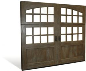 Reserve wood collection custom garage door by Aquarius Door Services