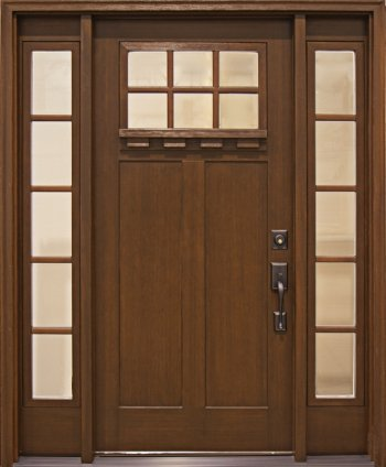 Fiberglass Entry Doors Craftsman Collection in Wyckoff