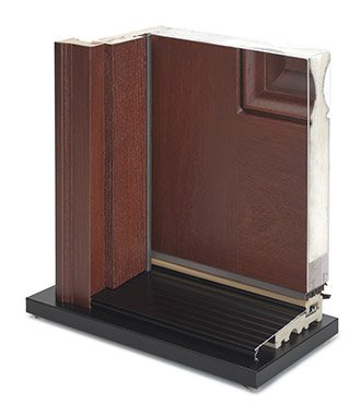 Rustic Collection Door Cutaway in Wyckoff