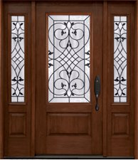 Fiberglass Entry Doors Rustic Collection in Wyckoff